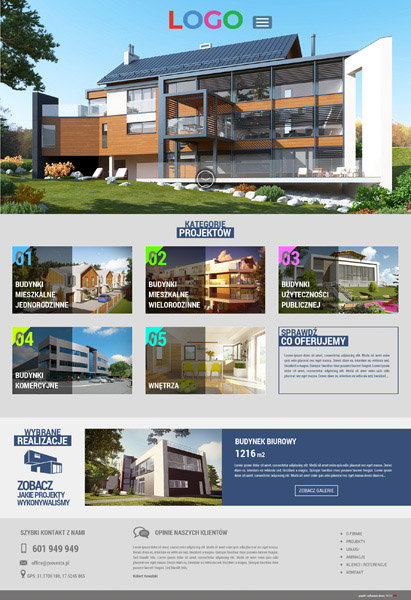 strona internetowa architektura